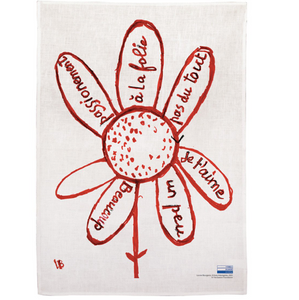 Louise Bourgeois FLOWER Tea Towel