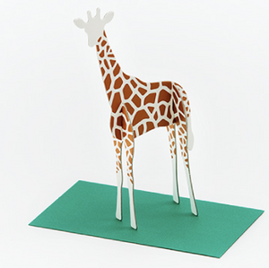 Good morning inc. Post Animal Standing Message Card