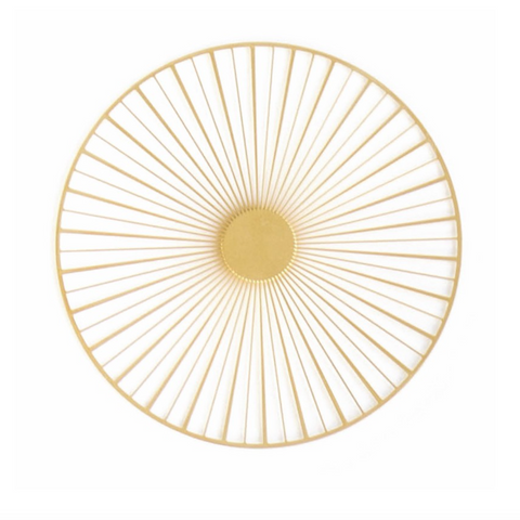 Solar Brooch - Large Gold