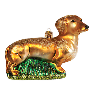 Gravhund lys julepynt  / Dachshund light christmas ornament