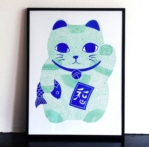 Scout Edition - Maneki Neko  Lucky Cat Print