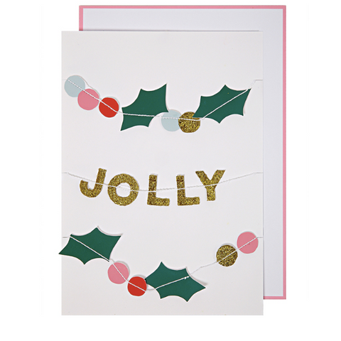 Holly Jolly Garland Card