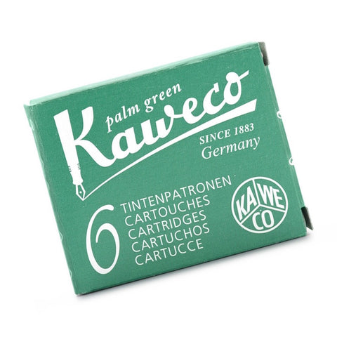 Kaweco Ink Cartridges 6 Pack - Palm Green