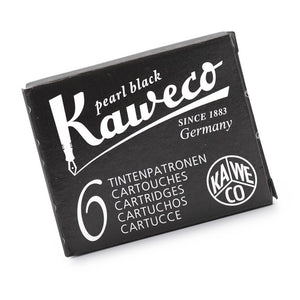 Kaweco Ink Cartridges 6 Pack - Pearl Black