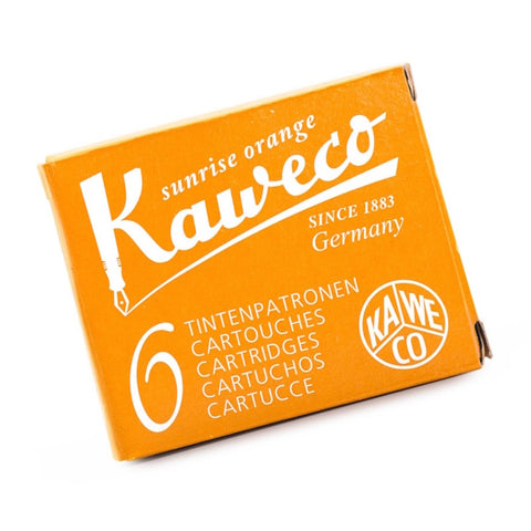 Kaweco Ink Cartridges 6 Pack - Sunrise Orange