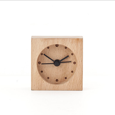 Kikkerland Wooden Alarm Clock Mini