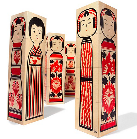 House Industries Kokeshi Doll Blocks