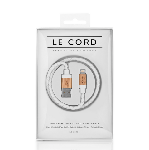 Le Cord Charge & Sync Cable - white leather