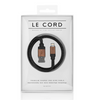 Le Cord Charge & Sync Cable - black leather