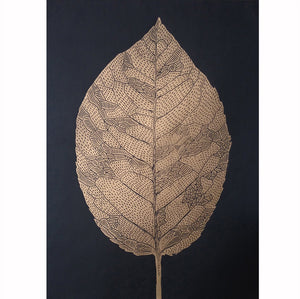 Monika Petersen Lino Print - Birch Leaf Gold/Black