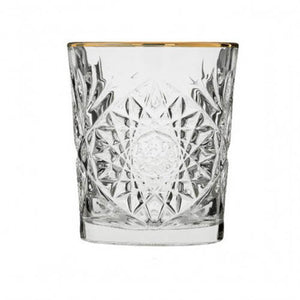 Whiskey glas guldkant/gold rimmed