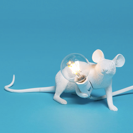 Seletti Mouse Lamp White Lie Down