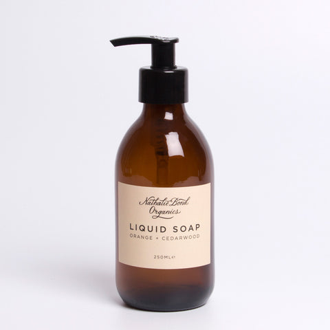 Nathalie Bond Organics Liquid Soap - Orange & Cedarwood