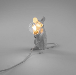 Seletti Mouse Lamp White Sitting