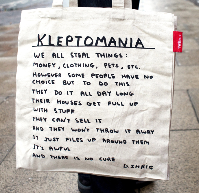 Magma Kleptomania Tote bag by David Shrigley - pt udsolgt/sold out