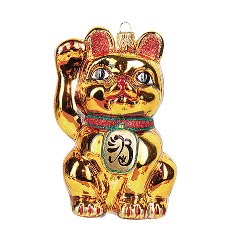 Japansk Lykkekat julepynt / Maneki Neko ornament - coming soon- please preorder!