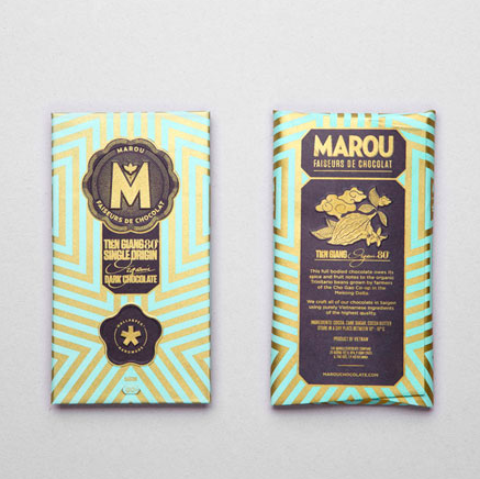 "Marou Faiseurs de Chocolat - Single origin ""Bean to Bar"" chocolate- Wallpaper Edition"