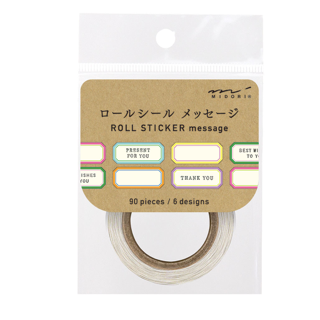 Midori Chotto Stickers - Message Label