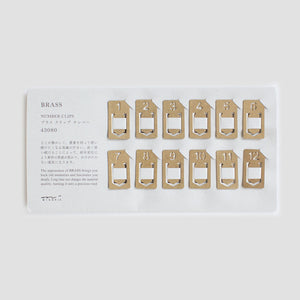 Midori Japan Brass Number Clips