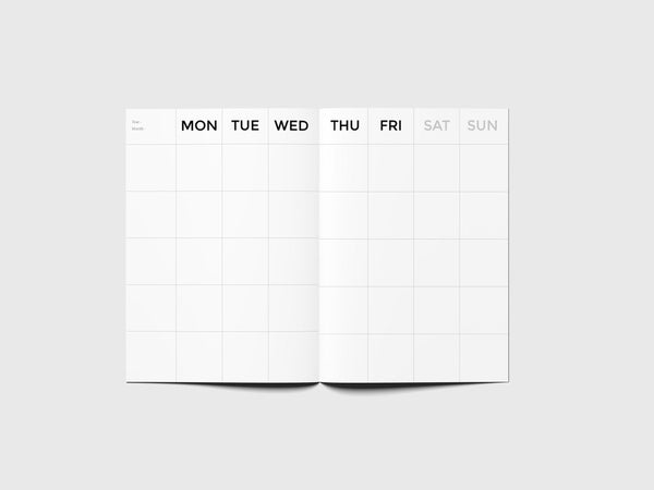 Octagon Design Big Timeless Monthly Planner