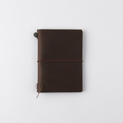 Traveler's Company Traveler's Notebook Brown Passport Size