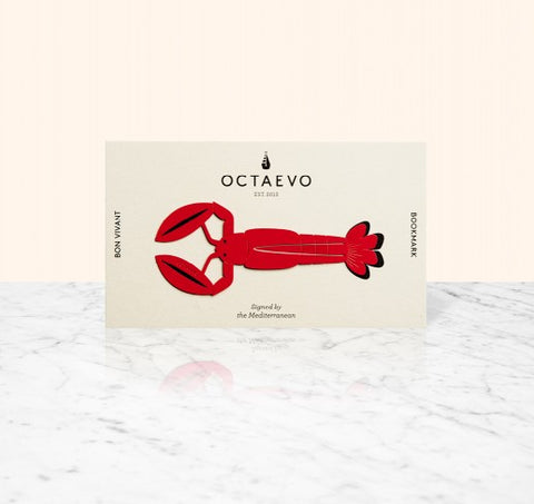 OCTAEVO Bon Vivant Lobster Bookmark - Red - pt udsolgt/sold out
