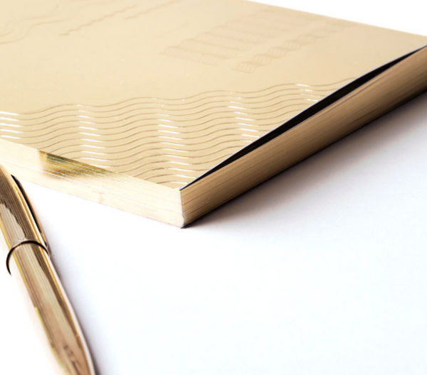 Write Sketch & Gold Onde Notebook