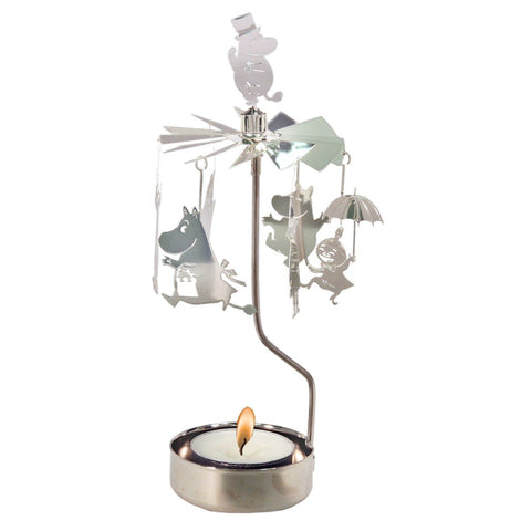 Moomin Rotary Candle Holder - Family in Silver