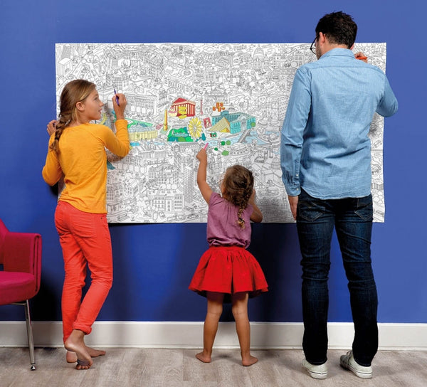 Omy Coloriage PARIS kæmpeplakat til at farvelægge / giant colouring poster