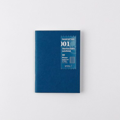 Traveler's Company Traveler's Notebook Refill 001 Lined Passport Size