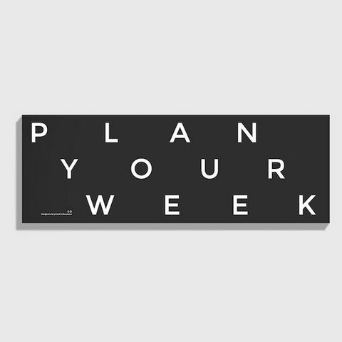 "Octagon Design ""Plan Your Week"" Desk Weekly Planner"