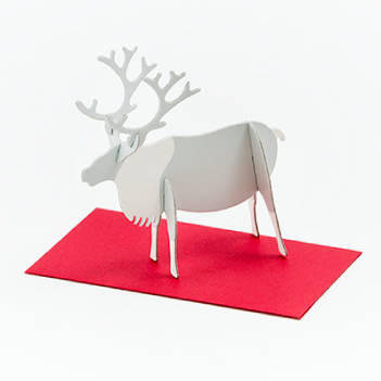 Good morning inc. Post Animal Standing Message Card - Reindeer
