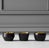 Skultuna Kin fyrfadsstager sort / tea light holders black