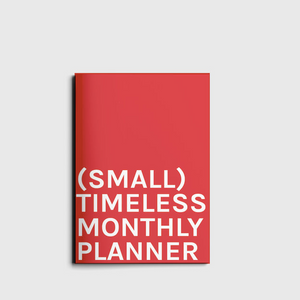Octagon Design Small Timeless Monthly Planner