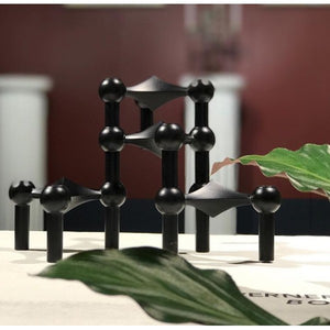 STOFF® Lysetage SORT / candle holder BLACK