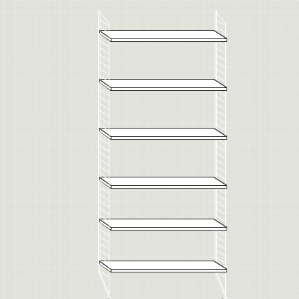 String Furniture reol gulvgavle med hylder / shelving unit