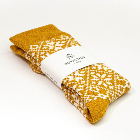 ROYALTIES Paris Socks - Aspen Mustard