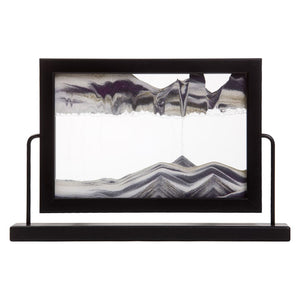 Window Black Sand Art