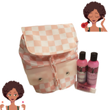 """Mommy I Need This"" Backpack 4oz Bundle Set w/FREE Baby Girl Vegan Lip Gloss"