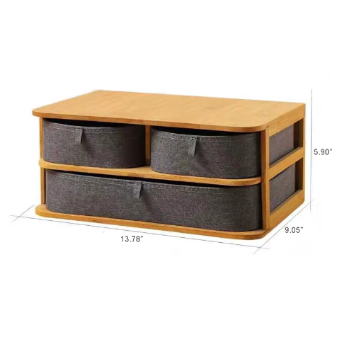 Wooden& cloth Desktop Storage - Cosy Corner