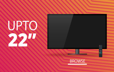Shop by size upto 22 inches cheapest deals on Televisions