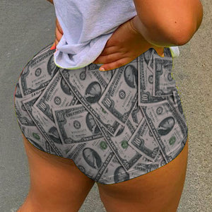 Spoof US dollars sexy booty shorts
