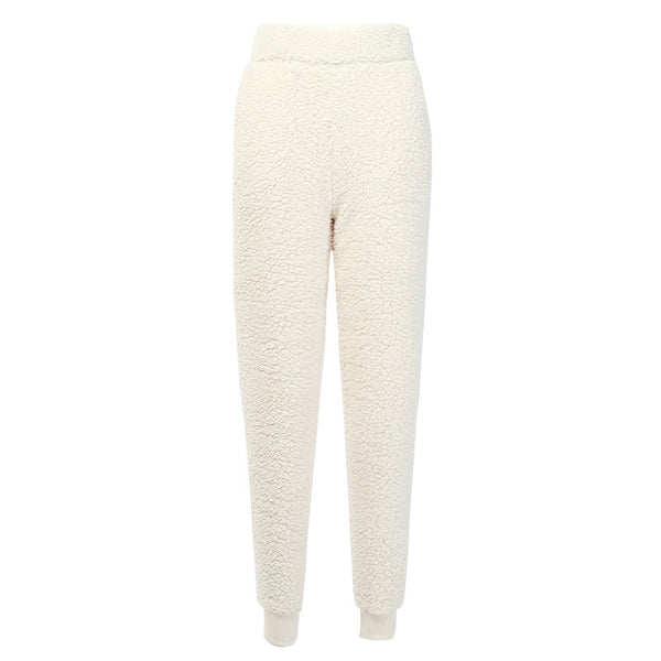 Fluffy women's casual pant