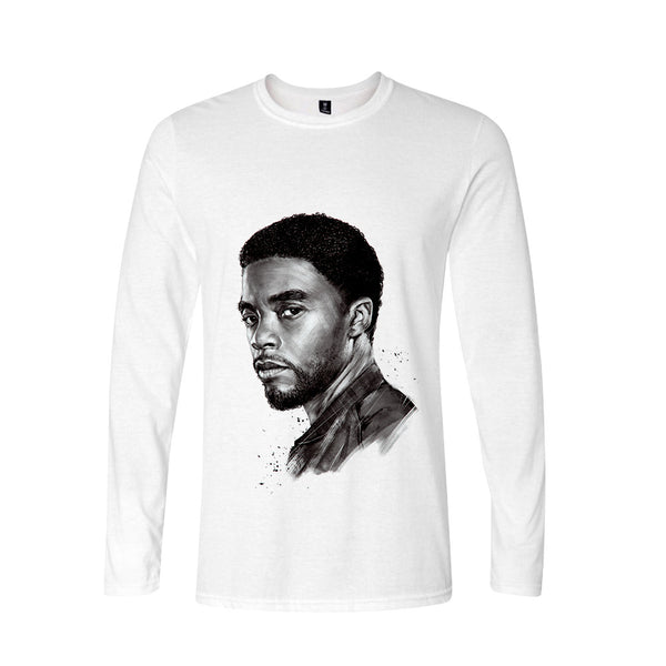 Chadwick Boseman Digital printed casual long-sleeved T-shirt