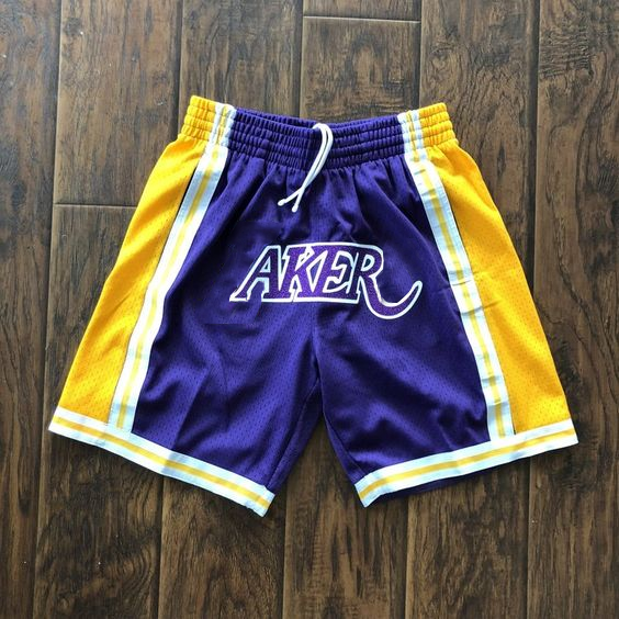 LAKERS printed letter shorts and basketball pants