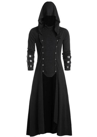Halloween Vintage Palace Gothic Solid Color Hooded Jacket