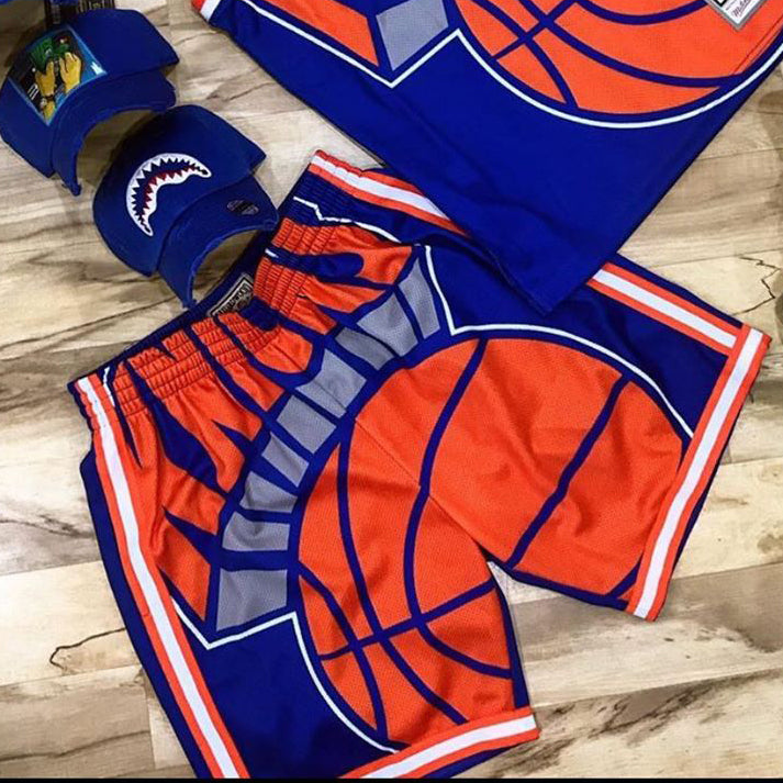 Basketball printed letters sports style shorts