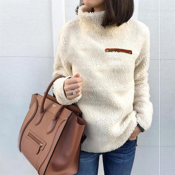 Autumn and winter high collar warm top sweater