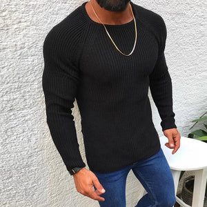 Autumn and winter slim long sleeve round neck Pullover Sweater Top