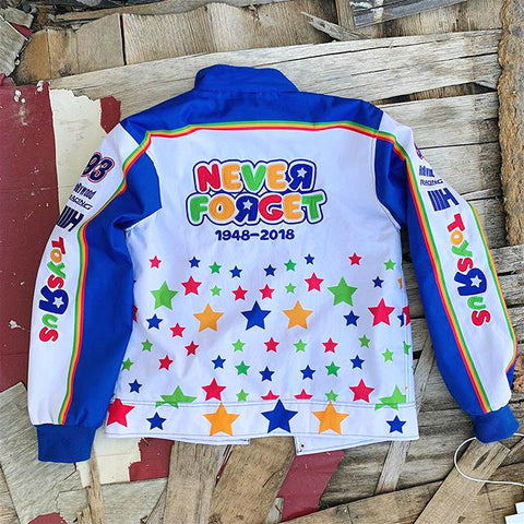 NEVER FORGET stars print jacket